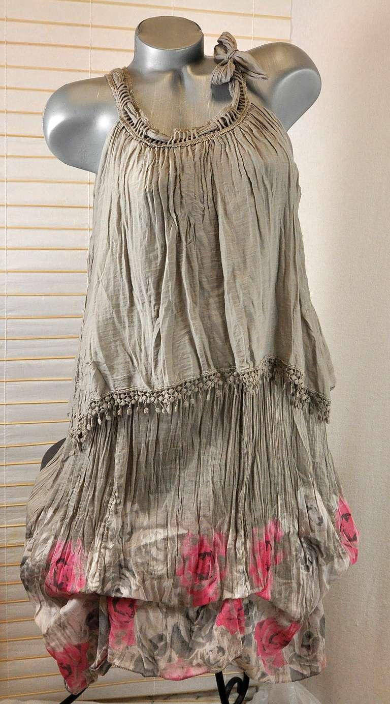 Neu traum sommer kleid tunika mit seide ausgefallen for Mel s fish shack