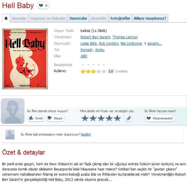 Hell Baby - 2013 BDRip x264 - Türkçe Altyazılı Tek Link indir