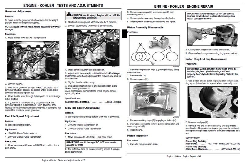 John deere Gt 225 repair Manual